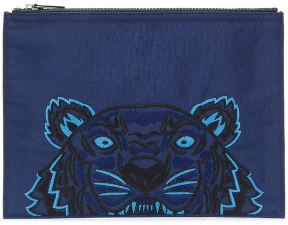 tiger motif clutch