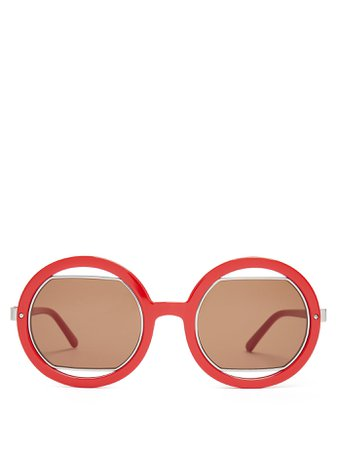 Round cut-out sunglasses | Marni | MATCHESFASHION.COM US