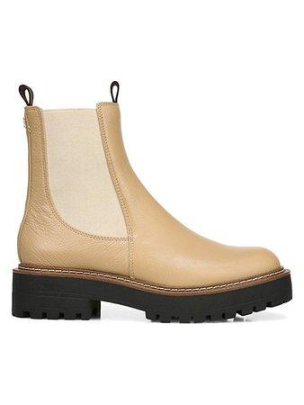 Sam Edelman Laguna Lug-Sole Leather Combat Boots   SaksFifthAvenue