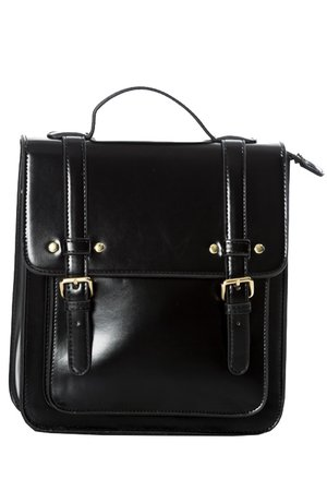 Cohen Black Gothic Messenger Backpack Bag by Banned | Gothic
