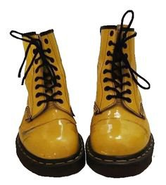 aesthetic clothes png retro yellow boots doc martens