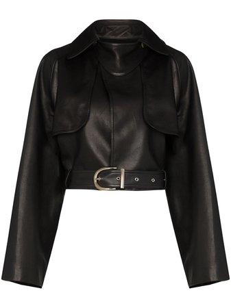 Khaite Krista Cropped Leather Jacket - Farfetch