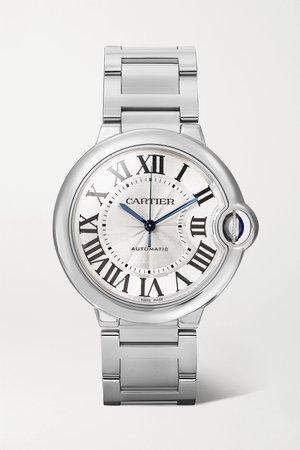 Silver Ballon Bleu de Cartier Automatic 36.6mm stainless steel watch   Cartier   NET-A-PORTER
