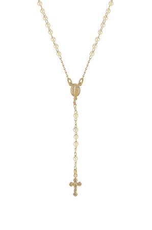 Rosary Pearl Necklace