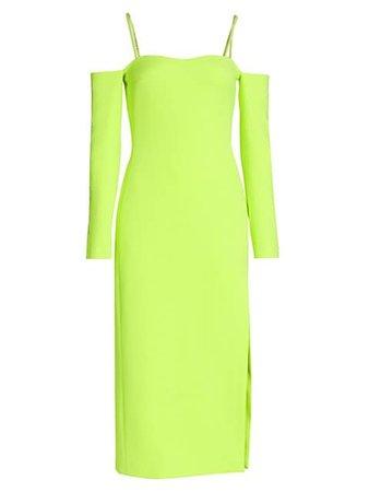 David Koma Tennis Embellished Crepe Midi Dress