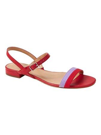 Bare Ankle-Strap Sandal Red  Banana Republic