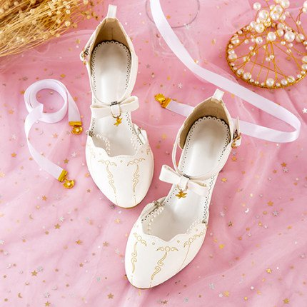 Loli lolita shoes mid-heeled cute soft girl princess meluru lolita shoes lo mother tea party basic models-tmall.com