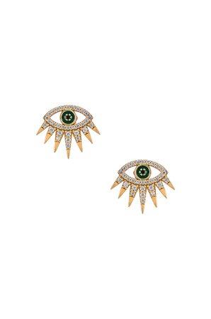 BaubleBar Tali 18k Gold Vermeil Stud Earrings in Gold | REVOLVE