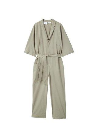MANGO Oversize organic cotton jumpsuit