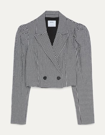 Balon kollu crop fit blazer - Best Sellers - Bershka Turkey