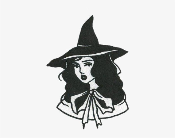 Png - Aesthetic Witch Drawing - Free Transparent PNG Download - PNGkey