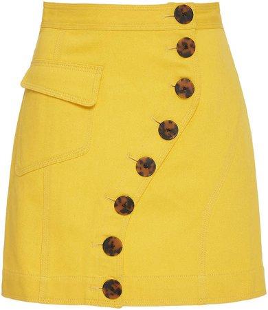 Acler Golding Button-Embellished Denim Mini Skirt
