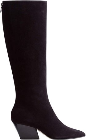 Aeyde Harper Suede Knee-High Boots