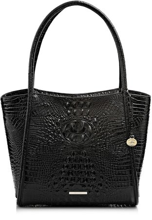 Bailee Croc Embossed Leather Tote