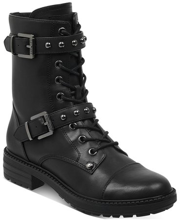 G by GUESS Granted Combat Booties & Reviews - Boots - Shoes - Macy's