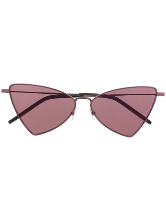Saint Laurent Eyewear Triangular Frame Sunglasses - Farfetch