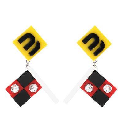 Embellished Clip-On Earrings - Miu Miu | mytheresa