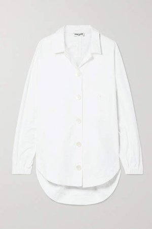 Oversized Brushed Cotton-poplin Shirt - White
