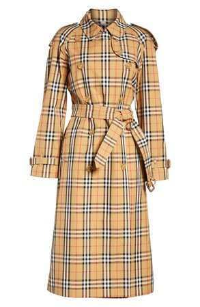 Burberry Eastheath Vintage Check Trench Coat | Nordstrom
