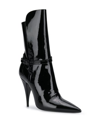 Saint Laurent Pointed Patent Boots Ss20 | Farfetch.com