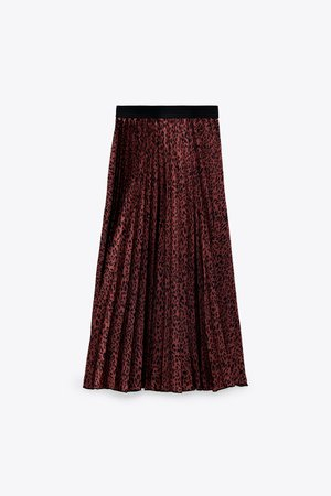 PRINTED PLEATED SKIRT | ZARA United States