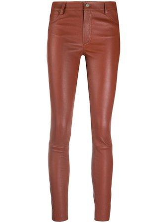 Drome Leather Skinny Trousers - Farfetch