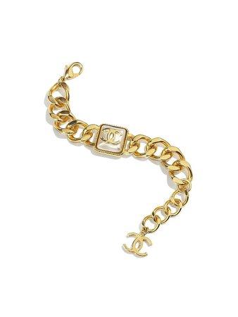 Chanel Gold Logo Chain Bracelet