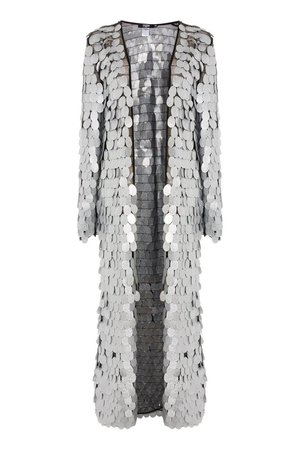 **Silver Glitter Sequin Embellished Kimono by Jaded London - Jackets & Coats - Clothing - Topshop