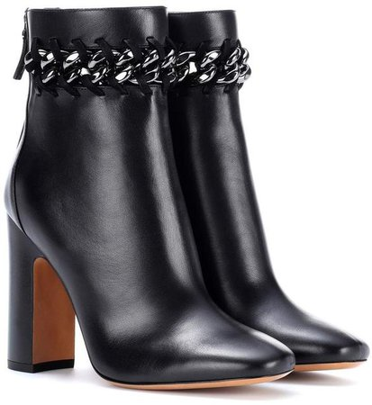 Valentino embellished leather ankle boots