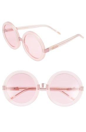 'Malibu Barbie' 56mm Round Sunglasses   Nordstrom