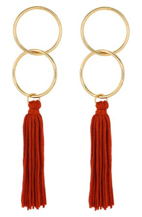 Panacea Circle Tassel Earrings | Nordstrom
