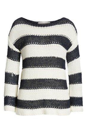 Bishop + Young Tape Yarn Desert Sweater blue white