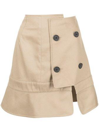 Monse trench-collar Skirt - Farfetch