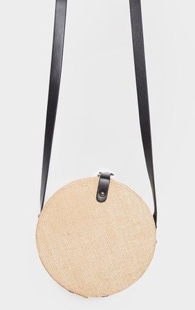 Natural Straw Round Cross Body Bag | PrettyLittleThing