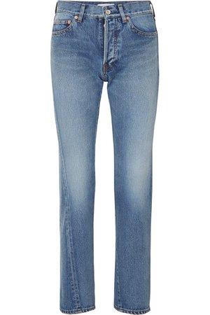 Balenciaga | Twisted high-rise straight-leg jeans | NET-A-PORTER.COM