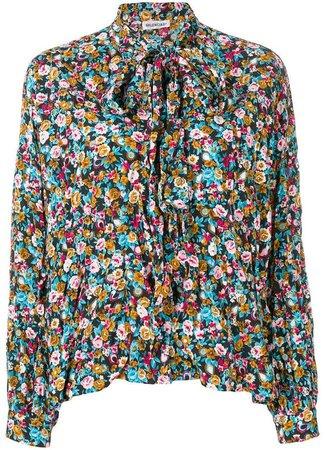 Fluid Vareuse floral blouse