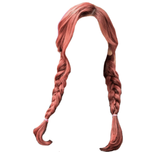 Red Pink Hair PNG