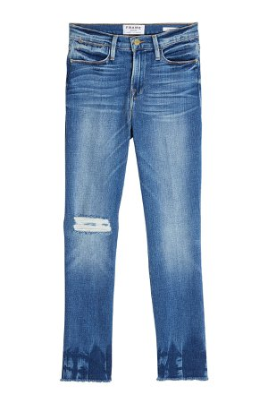 Le High Straight Raw Edge Cropped Jeans Gr. 28