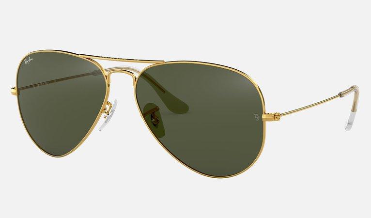 Ray-Ban Aviator Classic RB3025 Gold - Metal - Green Lenses - 0RB3025L020558   Ray-Ban® USA