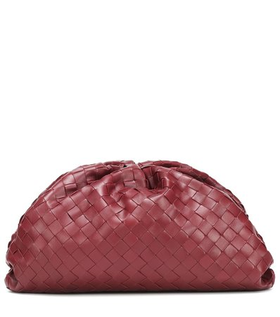 The Pouch Intrecciato Leather Clutch - Bottega Veneta   Mytheresa