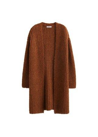 MANGO Chunky knit cardigan