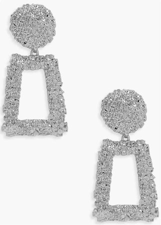 silver boohoo earrings
