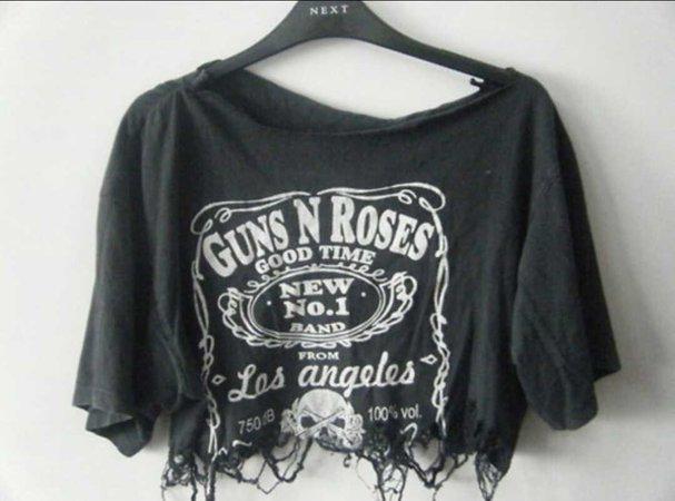 Guns and Roses worn crop top