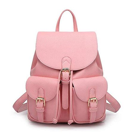 Amazon.com: Leather Backpack, Jonon Women's Leather Backpack , PU Leather Backpack for Women, Soft & Fashion Leather Lovely Backpack Cute School bag Shoulder Bag for Girls (Pink): Shoes