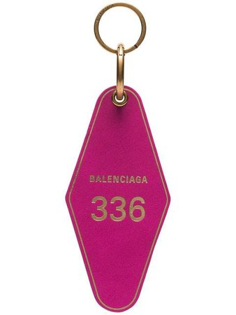 Balenciaga hot pink diamond shaped keyring $275 - Shop SS19 Online - Fast Delivery, Price