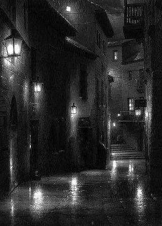 rainy street - Google Search
