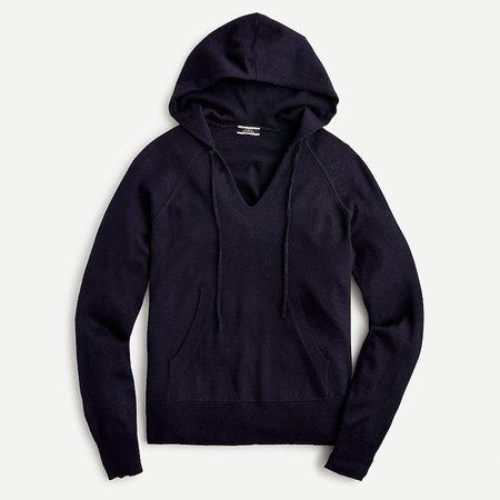 J.Crew: Hoodie In Featherweight Cashmere For Women