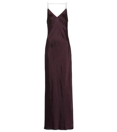 Satin maxi slip dress