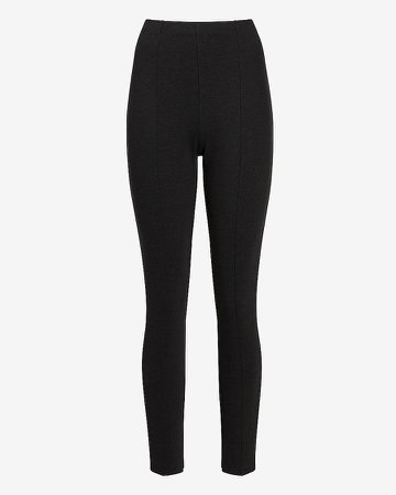 High Waisted Pull-On Twill Leggings
