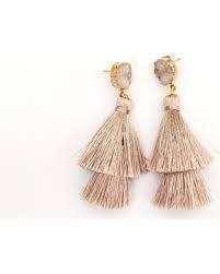 tan tassel earrings - Google Search